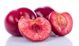 Вкусные свежие вишни, конец вверх Стоковая Фотография RF