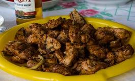 Вкусные, сочные ломти зажаренного свинины Стоковые Фотографии RF