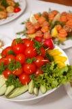 вкусные тарелки Стоковая Фотография