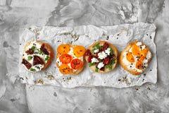 Вкусные bruschettas с томатами Стоковые Фотографии RF