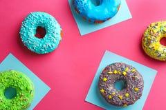 Вкусные donuts с брызгают Стоковое Изображение RF