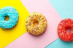 Вкусные donuts с брызгают Стоковое фото RF