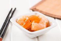 Вкусные marinated креветки Стоковое Изображение