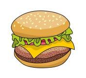 Вкусный бургер от фаст-фуда иллюстрация штока