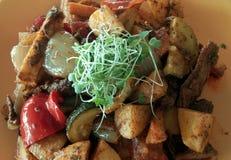 Вкусный вегетарианский обед Стоковые Фотографии RF