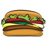 Вкусный гамбургер шаржа Стоковые Фотографии RF