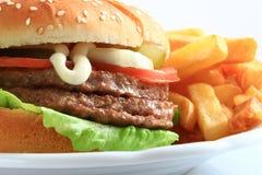 вкусный гамбургер Стоковое Фото