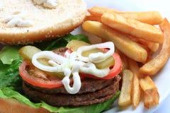вкусный гамбургер Стоковая Фотография