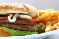 вкусный гамбургер Стоковые Фото