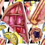 Вкусный десерт торта и плюшки сладкий r r иллюстрация штока
