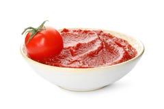 Вкусный домодельный томатный соус стоковое фото