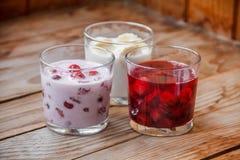 Вкусный десерт плодоовощ завтрака Стоковое Изображение