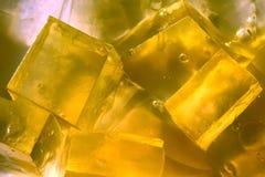 вкусный желтый цвет jello Стоковая Фотография