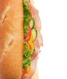 вкусный индюк верхней части съемки сэндвича с ветчиной Стоковая Фотография