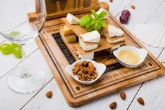 Вкусный комплект закуски сыра стоковая фотография