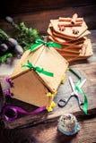 Вкусный коттедж пряника для рождества Стоковое фото RF