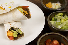 вкусный мексиканский tacos Стоковая Фотография