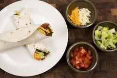 вкусный мексиканский tacos Стоковое Фото