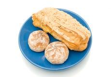 вкусный обед над белизной времени печенья Стоковые Фото