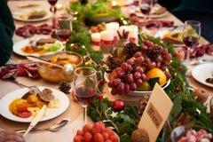 Вкусный рождественский ужин стоковая фотография rf