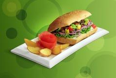 вкусный сандвич стоковое изображение