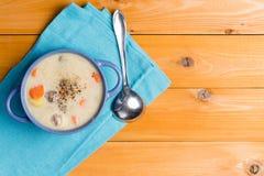 Вкусный стартер домодельного супа фрикадельки Стоковые Фото