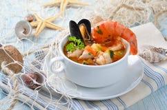 вкусный суп рыб Стоковая Фотография