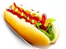 Вкусный хот-дог стоковое изображение