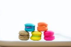 Вкусный цветастый macaroon Стоковые Изображения