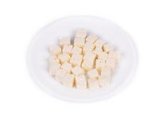 Вкусный cubed сыр фета Стоковое фото RF