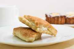 2 вкусных торта ванили Стоковая Фотография