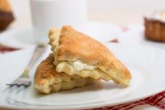 2 вкусных торта ванили Стоковое фото RF
