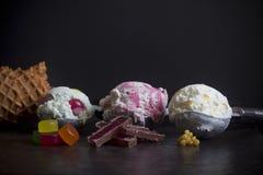 Вкусы мороженого Новой Зеландии Стоковое Изображение
