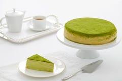 Вкус торта Melaleuca, торт Melaleuca зеленого чая, граф Melaleuca Стоковая Фотография