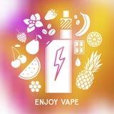 Вкус электронной сигареты Стоковое Изображение