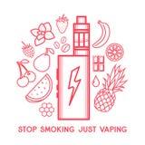 Вкус электронной сигареты Стоковые Фотографии RF