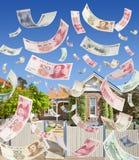 Вклад денег свойства Австралии китайца Стоковое фото RF