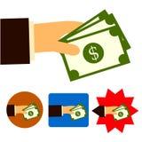Вклад дела банка денег торговый иллюстрация вектора