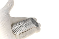Вклад серебряной монеты, одна унция troy Стоковое Изображение