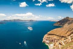 Вкладыш круиза около греческих островов Стоковое Изображение RF