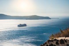 Вкладыш круиза около греческих островов Стоковое фото RF