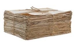 Старый изолированный вкладыш бумаг Стоковое Фото