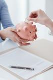 Вклады и план сбережений стоковое изображение