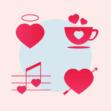 включенная икона сердца архива 8 eps Концепция года сбора винограда сердца иллюстрация штока