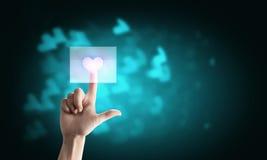 включенная икона сердца архива 8 eps стоковая фотография