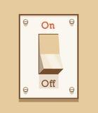 Включено-выключено светлый переключатель иллюстрация вектора