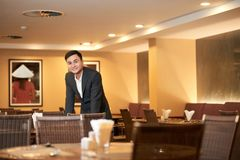 Владелец ресторана стоковое фото rf
