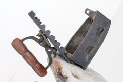 Владение античного flatiron деревянное Стоковые Изображения RF