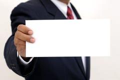 владение руки пустой карточки Стоковые Фотографии RF