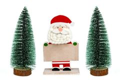 Владение Санта Клауса пустая доска стоковые изображения rf